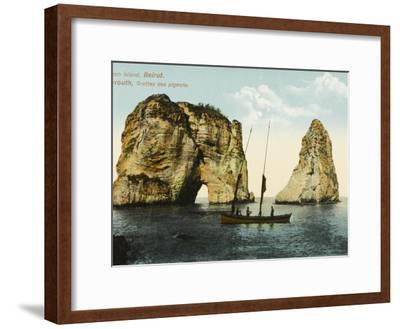 Pigeon Island, Off the Coast of Beirut, Lebanon--Framed Photographic Print