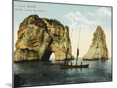 Pigeon Island, Off the Coast of Beirut, Lebanon--Mounted Photographic Print