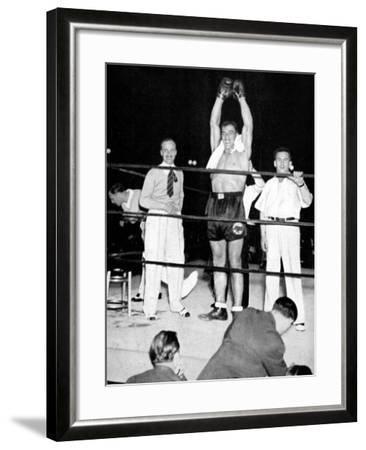 Primo Carnera Celebrates Victory, New York, 1933--Framed Photographic Print