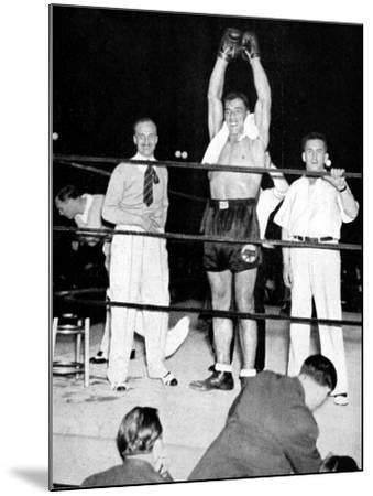 Primo Carnera Celebrates Victory, New York, 1933--Mounted Photographic Print