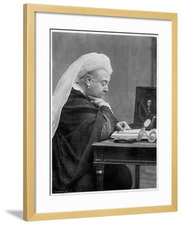 Queen Victoria--Framed Photographic Print