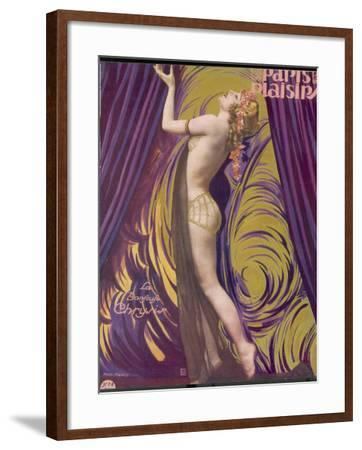 Showgirl and Dancer Chrysis, on a Beautiful Front Cover Design--Framed Photographic Print