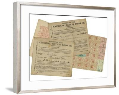Rationing National Ration Books from the Ministry of Food--Framed Photographic Print