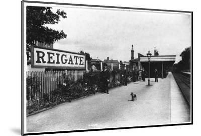 Reigate Station, Surrey--Mounted Photographic Print