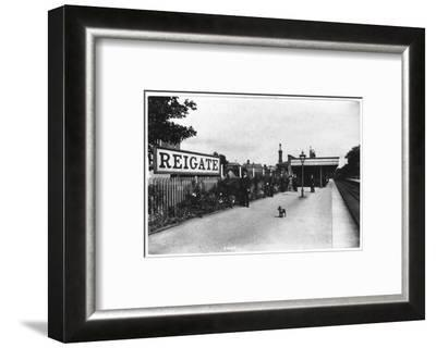 Reigate Station, Surrey--Framed Photographic Print