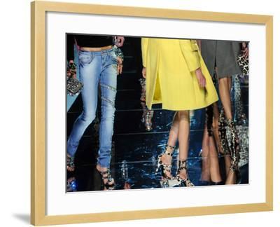 Models Display Creations of Blumarine Fa--Framed Photographic Print