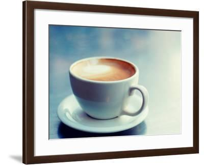 Cappuccino Cup with Foam--Framed Photographic Print