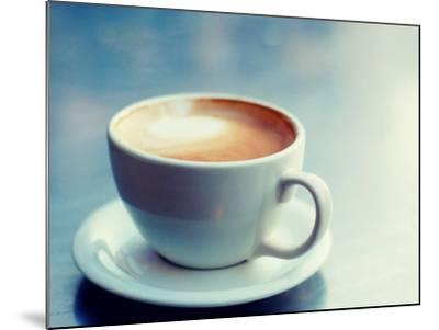 Cappuccino Cup with Foam--Mounted Photographic Print