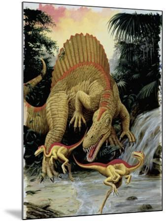 Spinosaurus Dinosaur Hunting Another Dinosaurs--Mounted Photographic Print