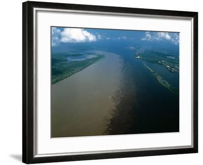 Brazil - Amazonas - Amazon River and Negro River--Framed Photographic Print