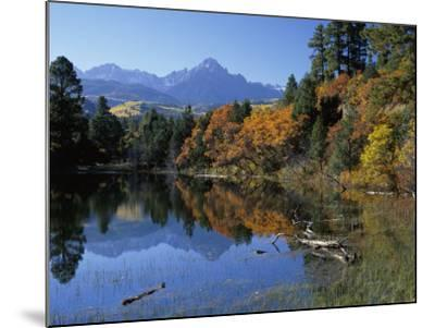 Colorful Autumn Forest in Front of Mount Sneffels Reflected in Water-Jeff Foott-Mounted Photographic Print