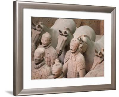 China, Shaanxi Province, Xian, Terra Cotta Warriors in Emperor Qinshihuangdi's Tomb-Keren Su-Framed Photographic Print