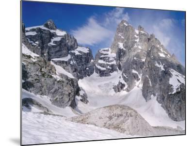 Detail of Snow-Covered Grand Teton, Mount Owen and Teton Glacier-Jeff Foott-Mounted Photographic Print