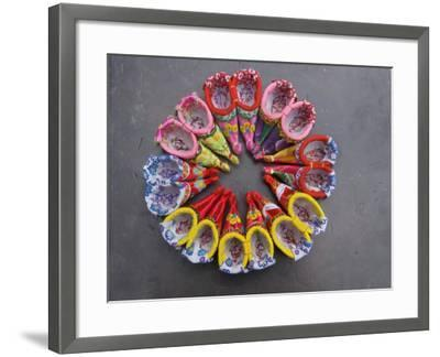 China, Traditional Colorful Embroidered Shoes for Bound Feet-Keren Su-Framed Photographic Print