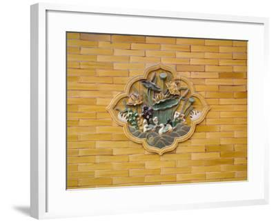 China, Beijing, Forbidden City, Architectural Details on the Wall Made of Glazed Bricks-Keren Su-Framed Photographic Print