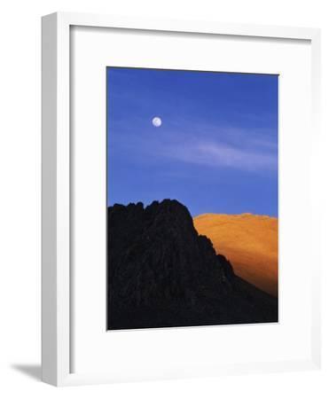 China, Tibet, Moon over the Tibetan Plateau-Keren Su-Framed Photographic Print