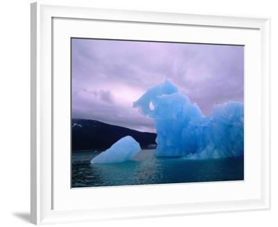 Icebergs are Surrounded by Body of Calm Water-Jeff Foott-Framed Photographic Print