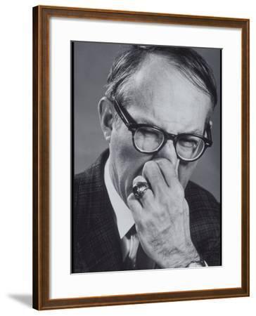 Older Man Pinching His Nose Closed-Lambert-Framed Photographic Print