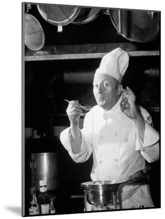 Chef Tasting Food, Ok Sign, 1942-Lambert-Mounted Photographic Print