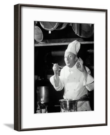 Chef Tasting Food, Ok Sign, 1942-Lambert-Framed Photographic Print