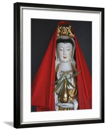 China, Guizhou Province, Statue of Guanyin (Goddess of Mercy)-Keren Su-Framed Photographic Print