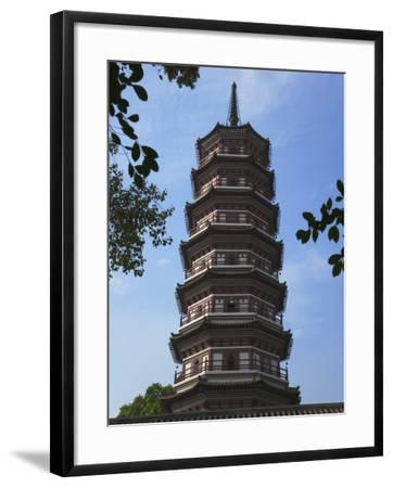 China, Guangdong Province, Guangzhou, Flower Pagoda in Liurong Temple-Keren Su-Framed Photographic Print