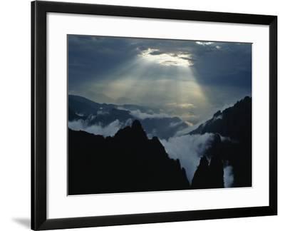 China, Anhui Province, Mt-Keren Su-Framed Photographic Print
