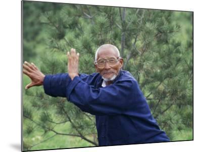 China, Shaanxi Province, Xian, Elderly Man Doing Taichi-Keren Su-Mounted Photographic Print