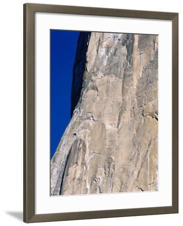 Rock Climbers Scale El Capitan-Jeff Foott-Framed Photographic Print