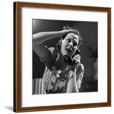 Emergency Call--Framed Photographic Print