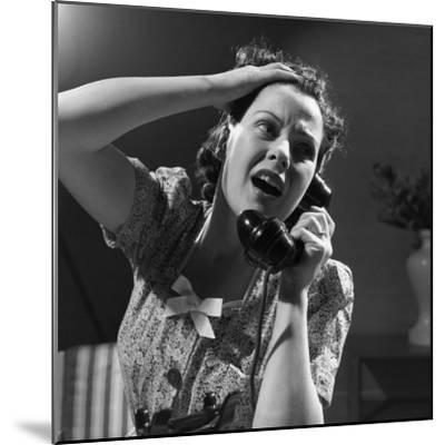 Emergency Call--Mounted Photographic Print