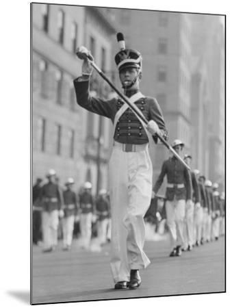 Drum Major Leading Parade in Old-Fashioned Uniforms-George Marks-Mounted Photographic Print