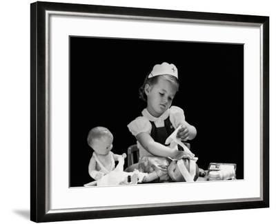 Playing Nurse-H^ Armstrong Roberts-Framed Photographic Print