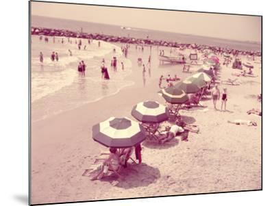 Summer Beach Scene, People Relaxing on Sandy Shore, New Jersey-H^ Armstrong Roberts-Mounted Photographic Print