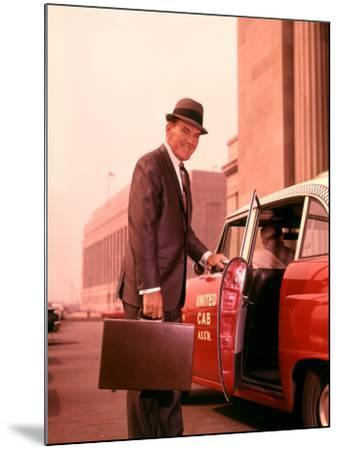 Salesman With Attache Case About To Enter Taxi Cab-H^ Armstrong Roberts-Mounted Photographic Print