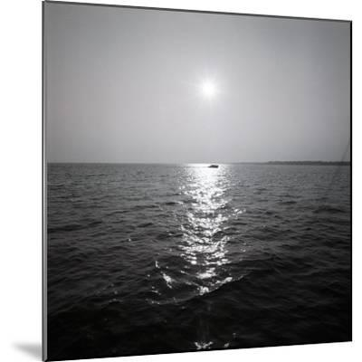 Distant Boat on Ocean-George Marks-Mounted Photographic Print