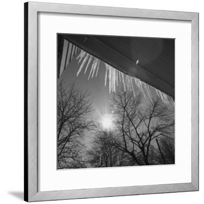 Icicles on Roof an Sun-George Marks-Framed Photographic Print