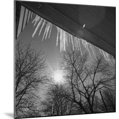 Icicles on Roof an Sun-George Marks-Mounted Photographic Print