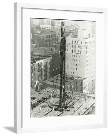 Workers on Building Site on Urban Setting, Elevated View-George Marks-Framed Photographic Print
