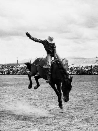 Rodeo Cowboy-H^ Armstrong Roberts-Framed Photographic Print