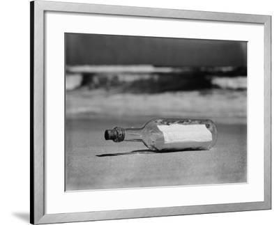 Message in Bottle on Shore-H^ Armstrong Roberts-Framed Photographic Print