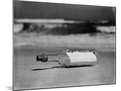 Message in Bottle on Shore-H^ Armstrong Roberts-Mounted Photographic Print
