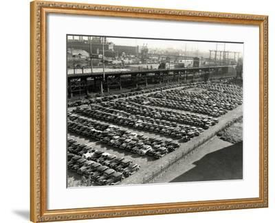 Rows of Cars in Parking Lot, Aerial View, Philadelphia-H^ Armstrong Roberts-Framed Photographic Print