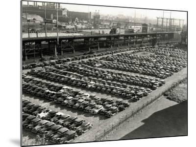 Rows of Cars in Parking Lot, Aerial View, Philadelphia-H^ Armstrong Roberts-Mounted Photographic Print