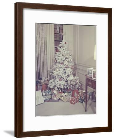Christmas Tree and Gifts in Living Room-George Marks-Framed Photographic Print