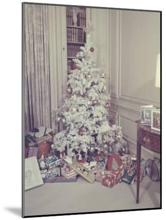 Christmas Tree and Gifts in Living Room-George Marks-Mounted Photographic Print