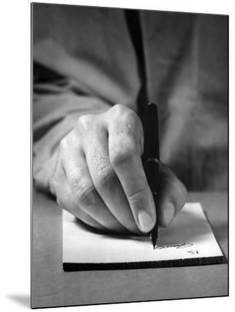 Physician's Hand Writing Prescription-George Marks-Mounted Photographic Print