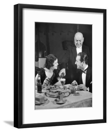 Couple Being Waited on at Restaurant-George Marks-Framed Photographic Print