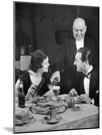 Couple Being Waited on at Restaurant-George Marks-Mounted Photographic Print