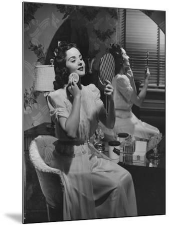 Woman Applying Make Up at Vanity Table-George Marks-Mounted Photographic Print
